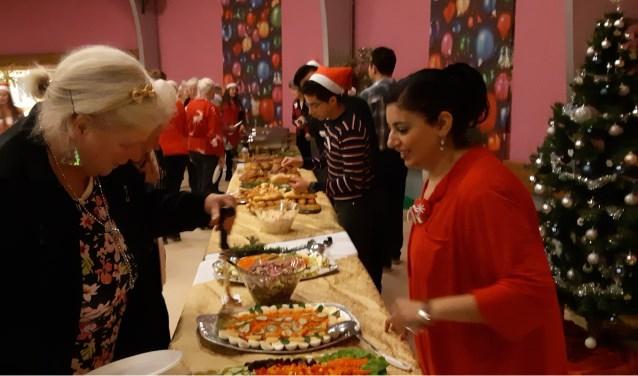 Ook de salades waren 'verrukkulluk' op de kerstbrunch