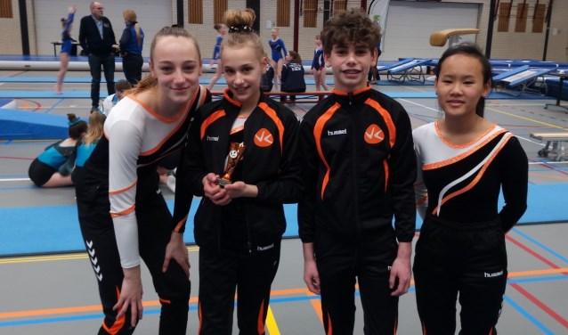 Imany Waanders Castillam, Nova Put, Yilin Muller en Arcoiris Firmino Bergmann kwamen met brons op het podium terecht.