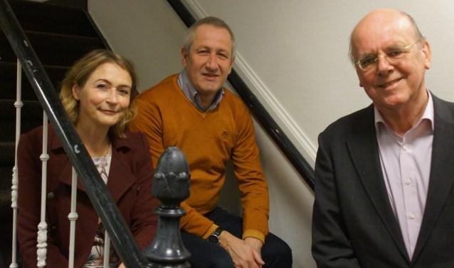 Het driekoppige bestuur van het Van der Wel-IJffonds Anke van Ansenwoude, Nico van der Steeg en Deen Jaquet, verheugt zich op het concert op 9 maart in de Bonaventurakerk.
