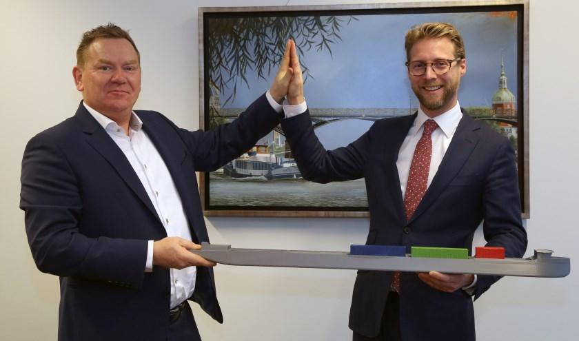 Henk Schipper en Maarten Burggraaf. (foto: Rob Kamminga)