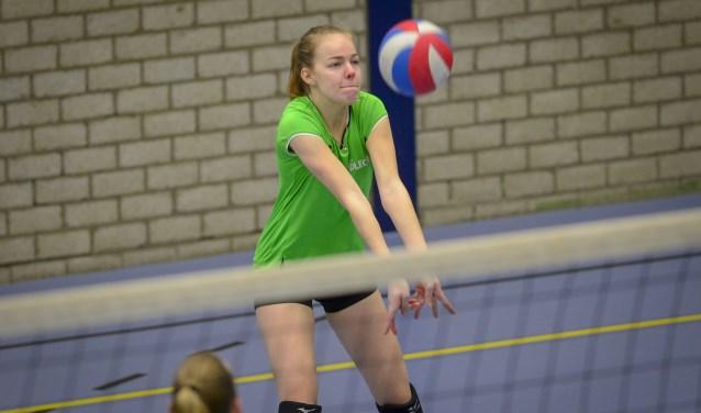 Mariska Schep, verdedigend in actie namens Voleco. (Foto: Wijntjesfofografie.nl)