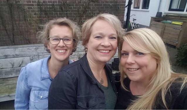 Sibylla Bussink, Anneke van Asperen en Karin te Winkel hebben zo hun eigen reden om deze actie te orgeniseren. Foto: PR