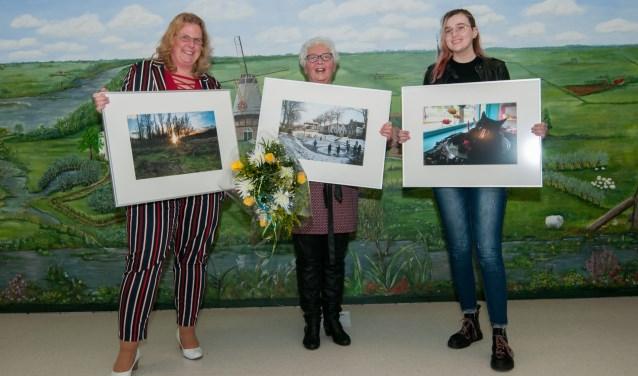 V.l.n.r. Karin van Es (tweede), Corry Hollaar (winnaar) en Indra van Mechelen (derde). ( Foto: Ropa Photo)