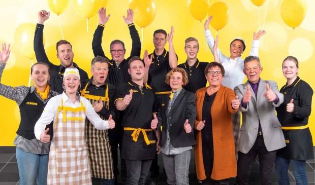 Ondernemer Johan Mensink en zijn team tijdens de 7 Zekerheden training van de Jumbo Academy op het hoofdkantoor van Jumbo Supermarkten in Veghel.