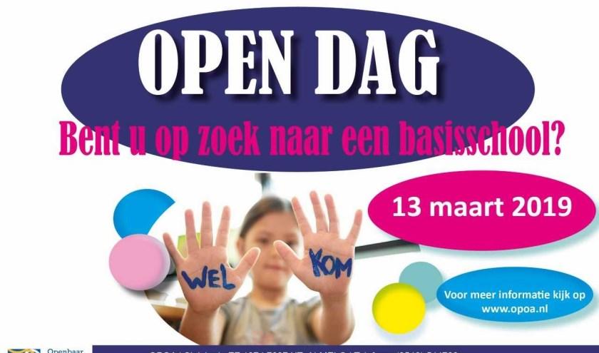 Breng op woensdag 13 maart alvast een bezoekje aan de toekomstige basisschool van uw kind