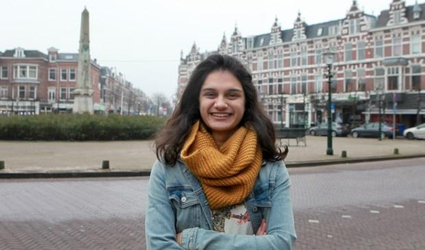 'Ik hou van Den Haag', zegt Chianna. Ze is zelfs met een cursus Nederlands begonnen. (Foto: Peter van Zetten).