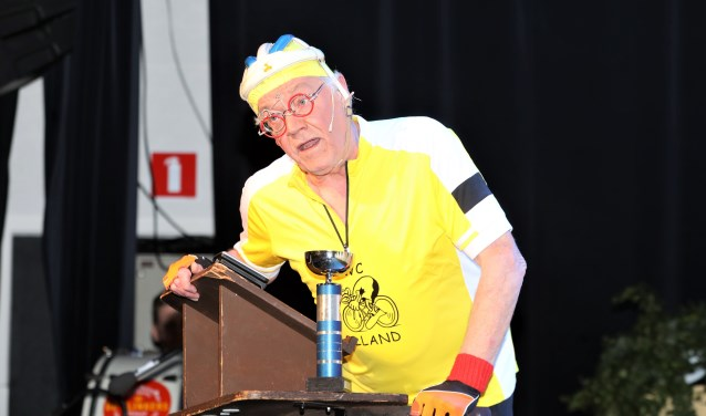 Tonprater Rien Bekkers op avontuur als 'Tinuske Trap'. Foto: Harrie van der Sanden.