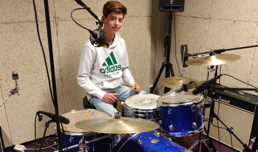 Opname van de drums