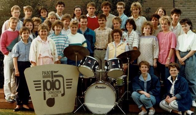 Toen nog Jongerenkoor Pabo in het midden van de jaren 80.