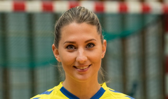 Bernice Hesselink scoorde vier keer waarvan drie keer in de slotfase. Foto: Herman Zandhuis