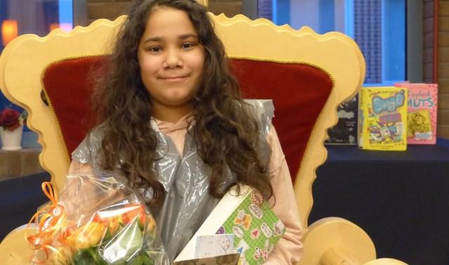Laquisha Adamus van de Prinseschool won de tweede lokale ronde van de Nationale Voorleeswedstrijd.