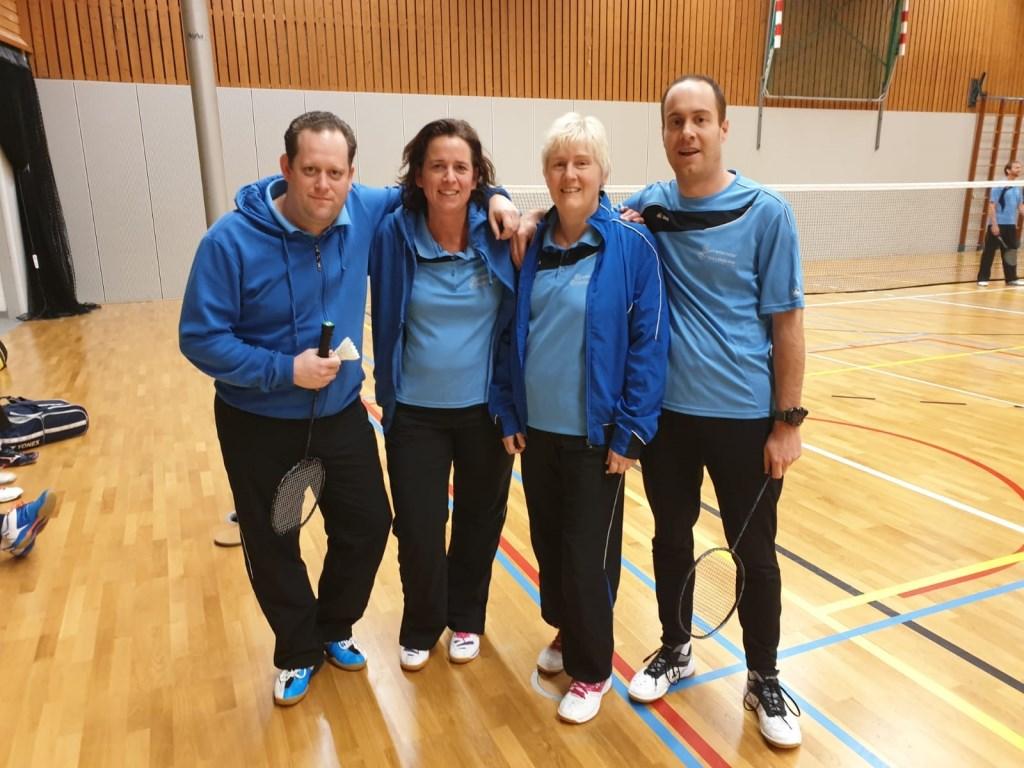 Kampioen Apollo 2: Ruben Makkee, Monique van Straaten, Ingrid Otto en Arjan van Rijn Foto: BC Apollo © Persgroep