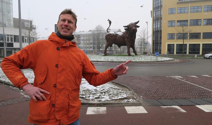 Thomas den Oude, bewoner van de binnenstad, vrijwilliger voor de website van de wijken Kruiskamp en De Koppel.