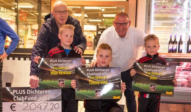 Voetbalvereniging VIOD ontving en cheque van € 2047,20.