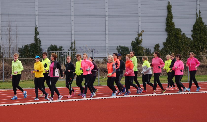 Trainen voor de Ladies Run.