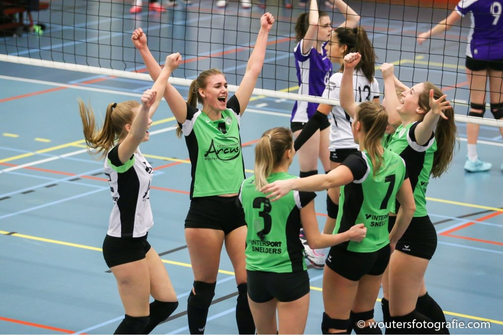 Vreugde na setwinst! Foto: Erik Wouters © Persgroep