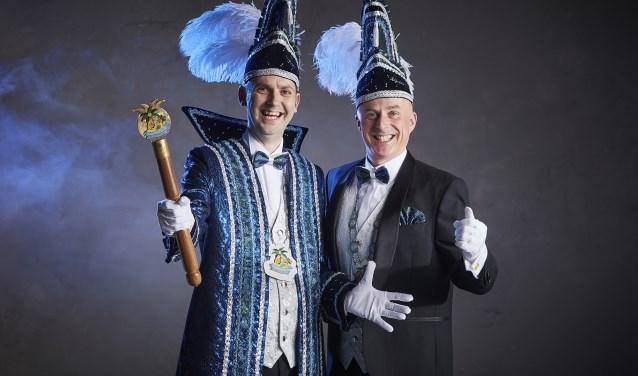 Prins Marten en Adjudant Edward van De Smoezen zijn klaar om carnaval te vieren. Foto: Niek Erents