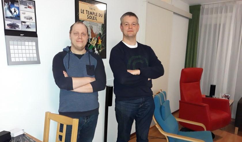 Rob van Assouw (links) en Bas Mostermans zijn strijdvaardig en verwachtingsvol. 'Hun' maandelijkse autismecafés worden een succes.