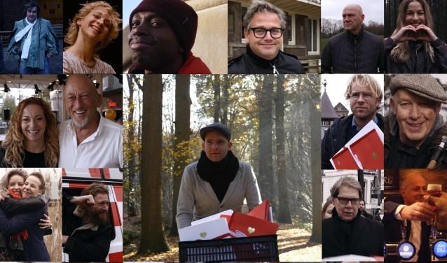 Heel wat prominente Brabanders spelen mee in de clip van 'Mijn Bra-bantse Hart' van Thomas Pieters. FOTO: PROVINCIE NOORD-BRABANT