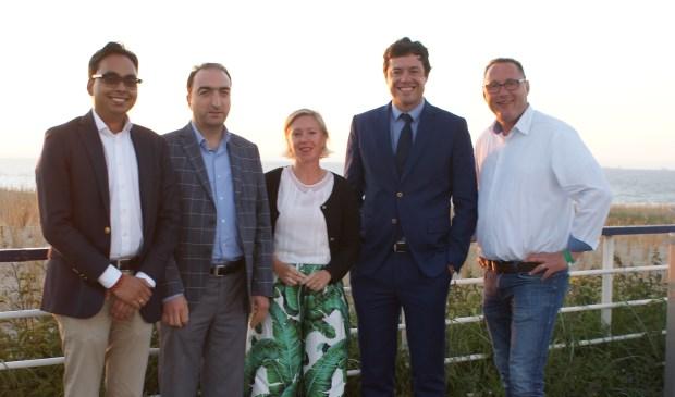 De fractie van het CDA Den Haag, nog met Karsten Klein en Michel Rogier.