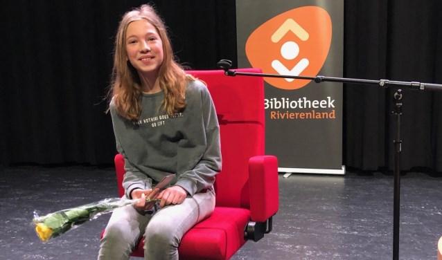 Winnaar Famke van Heuckelum. Op 6 april doet ze mee aan de provinciale ronde in Apeldoorn. De landelijke finale is op 25 mei in Utrecht.