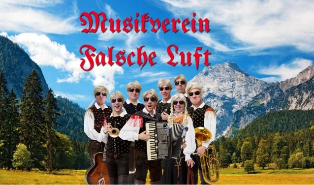 De inwoners van Dwergonië worden de komende weken getrakteerd op een groot aantal optredens van het beruchte muzikale gezelschap Musikverein Falsche Luft.