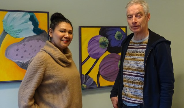 Kristien de Laere en Tjeerd Schuhmacher werken in de Danne Ateliers in Breukelen. Foto: Joke Stapper