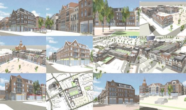 Impressies van het Centrumplan Oost door Green Development. Volgens de projectontwikkelaar zijn de woningen verschillend van afmetingen en opzet en daarom voor meerdere doelgroepen interessant.