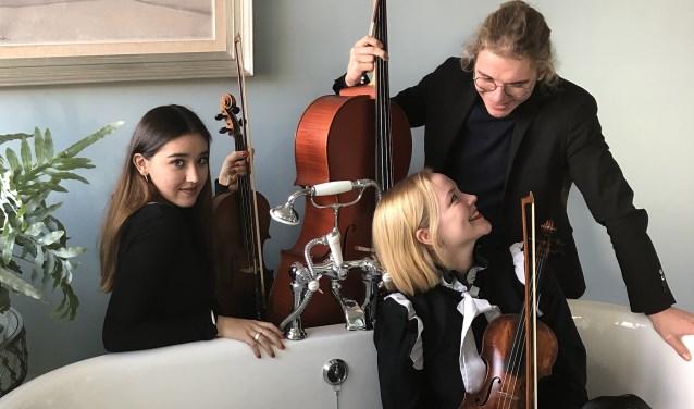 Trio Meastoso bestaat uit Zephyra van Rood (viool), Raven Hessels (cello) en Johanna Kouwenhoven (altviool).
