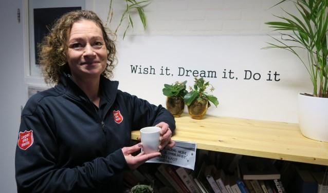 Bonnie van Vugt, coördinator van Bij Bosshardt Amersfoort, bij haar persoonlijke motto 'Wish it, Dream it, Do it'.