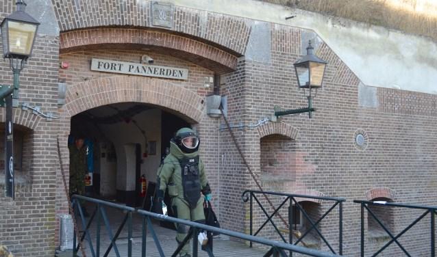 Ontruimingsoefening bommelding op Fort Pannerden