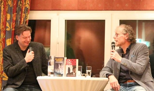 Eddy van der Ley (links) in gesprek met Frank Krake. Foto: Jaime Lebbink
