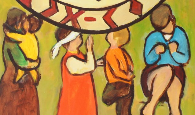 Wereldgebeddag Soveens kunstwerk.