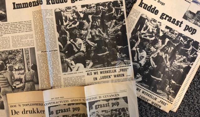 Links de originele foto van Jaco van Lith, mét blote borsten. Rechts de gekuiste versie die de andere helft van Rotterdam zag, met haastig geplakt stickertje.