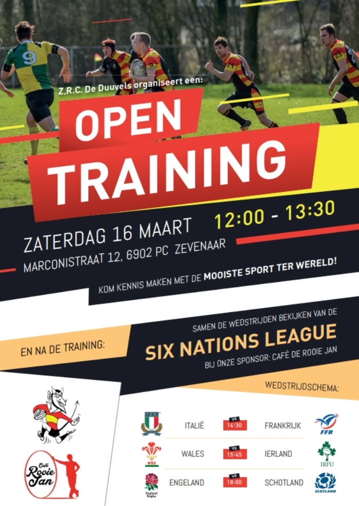 Open training Rugby