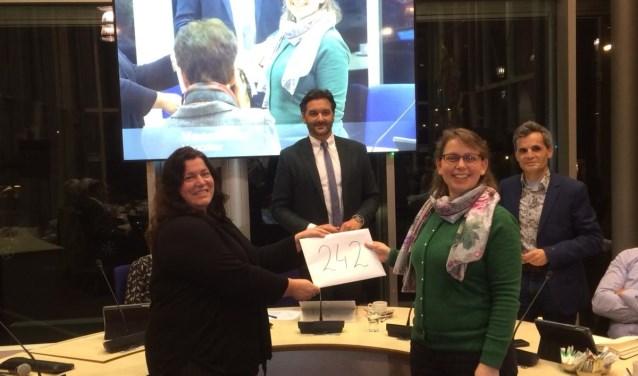 De raadcommissie werd vorige week het resultaat van de handtekeningenactie overhandigd.