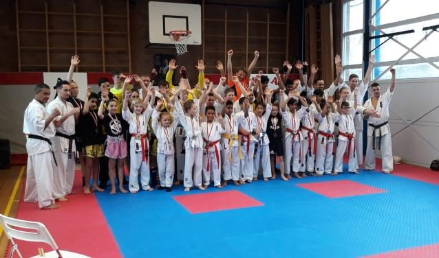 kickboksers en karate karateka's