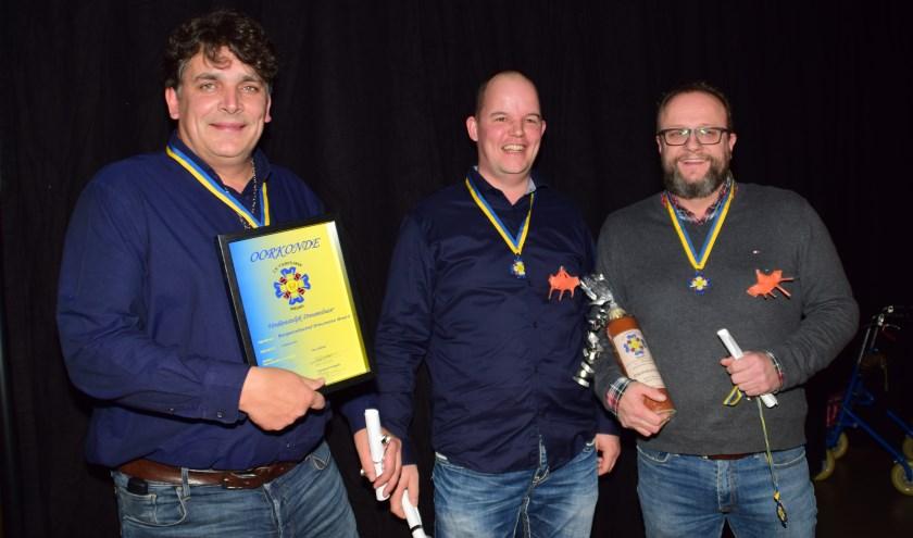 Harold Koolhout, Frans van Egmond en Gert Jan van Engelen. Dré van Rossum ontbreekt op de foto.