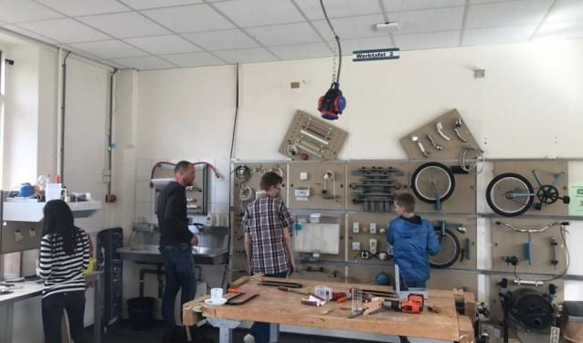 Het technieklokaal van VSO De Korenaer.