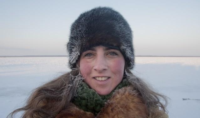 Hester den Boer tijdens haar onderzoek in Rusland.
