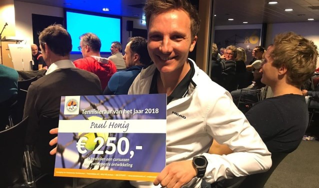Paul Honing Tennisleraar van het jaar 2018