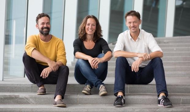Foto: van links naar rechts Ton Schulte, Inge Stevens, Edwin Verdurmen. Fotograaf: Masha Bakker Photography