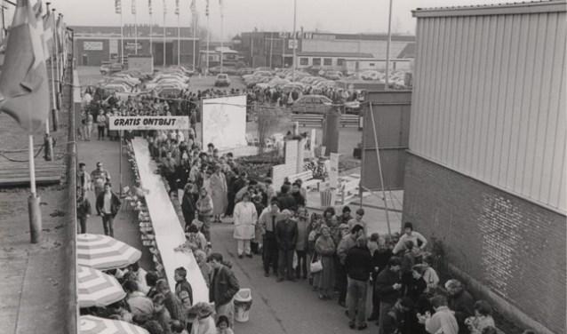 Ikea zo'n dertig jaar geleden nog in Sliedrecht met een gratis ontbijt. (Foto: Privé)
