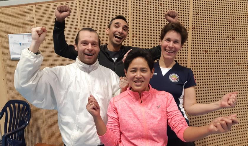 BCA 1, met vlnr Gianni, Erwin, Gerrie, Chantal.