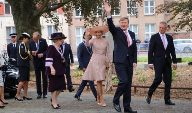 Het bezoek van de koninklijke familie tijdens de uitreiking in 2018.