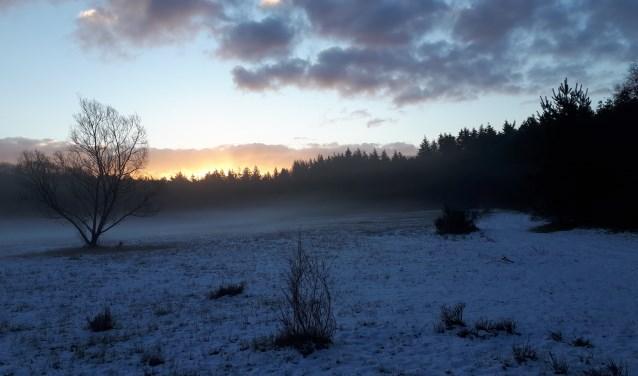 zonsopkomst landgoed 't Sol Garderen