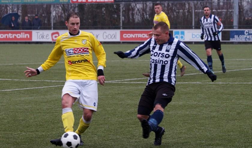 Sander Kalkman in actie bij het uitvechten van een duel