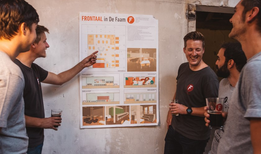 Brouwerij Frontaal is trots dat het zaterdag in de Faam het brouwcafé  opent. In maart wordt er gestart met de opbouw van de brouwerij zelf.