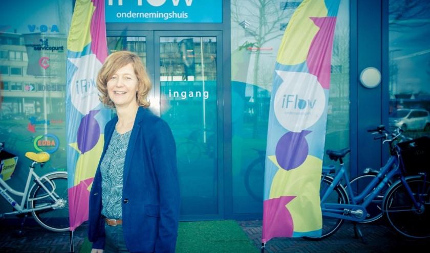 Riëtte Bol voor de iflow ondernemingshuis in Alphen aan den Rijn
