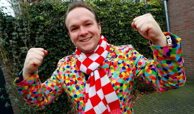 """""""4weken voor carnaval leef ik een beetje in een bubbel.Familie en vrienden weten dat"""", vertelt Jordy Graat. Foto: Bert Jansen."""